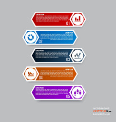 Infographic design with 5 parts steps or processes vector image
