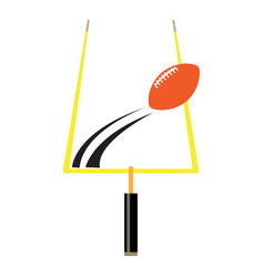 isolated football goal post vector image