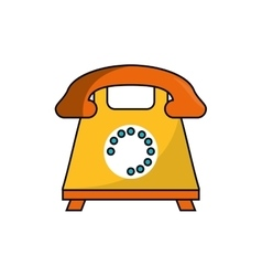 Isolated retro phone design vector image