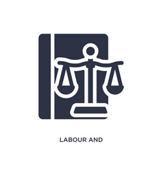 Labour and social law icon on white background vector