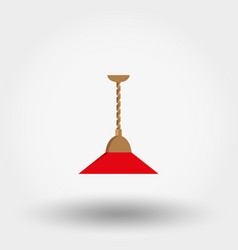 Lamp for kitchen icon flat vector