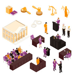 law set isometric vector image