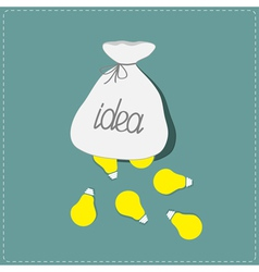 Light bulbs falling out of the bag Idea concept vector
