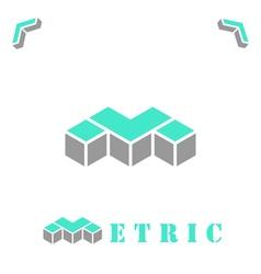 M letter logo concept vector