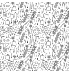 Make up and cosmetics seamless pattern vector image