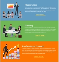 Master Class and Training Set of Banner vector image