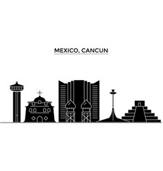 Mexico cancun architecture city skyline vector