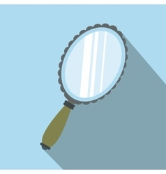 Mirror flat icon with shadow vector
