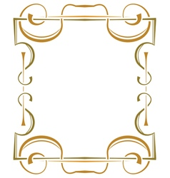Multilayer ornate frame on a white background vector
