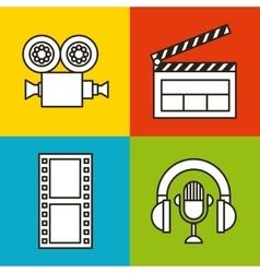 Multimedia and video design vector