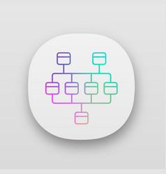 Network diagram app icon cluster diagram vector