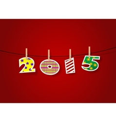 New year numbers Holiday card template vector image