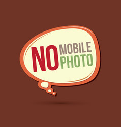 no mobile no photo text in balloons vector image