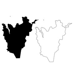Northeastern region iceland island regions of vector