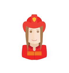 Object firefighter avatar vector