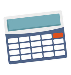 office calculator icon flat style vector image