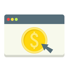 online banking flat icon business and finance vector image