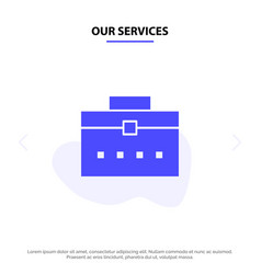 Our services bag worker bag user interface solid vector