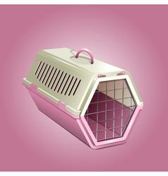Pet kannel pink cat carrier vector