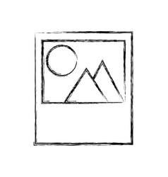 Picture landscape symbol vector