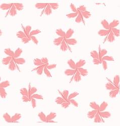 pink angel hibiscus pattrn vector image