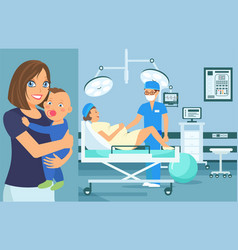 Prenatal medical checkup flat vector