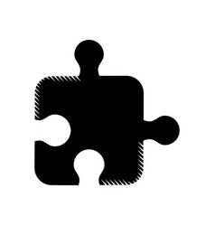 puzzle strategy creativity abstract pictogram vector image