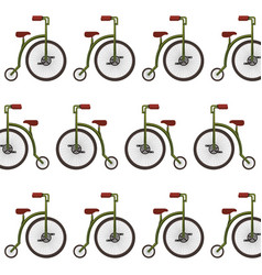 Retro bicycle pattern background vector