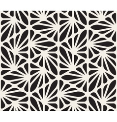 Seamless Black and White Floral Organic vector