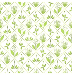 Seamless pattern with grass vector