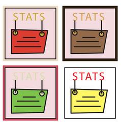 Set of statistics icon infographic chart symbol vector