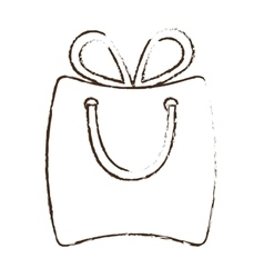 Sketch draw bag gift paper shop online vector