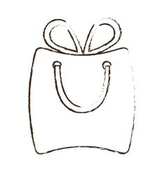 Sketch draw bag gift paper shop online vector