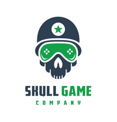 skull game logo design vector image