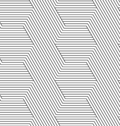 Slim gray diagonally and horizontally striped vector image