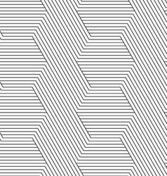 Slim gray diagonally and horizontally striped vector image vector image