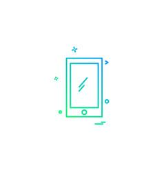 smart phone icon design vector image