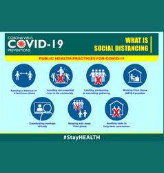 Social distancing poster or public health vector