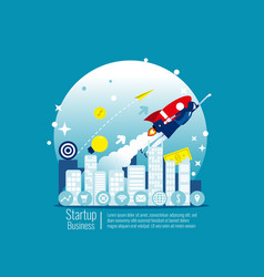 start up business concept business vector image