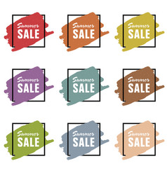 summer sale icon design set vector image