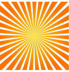 sun rays orange background spiral vector image