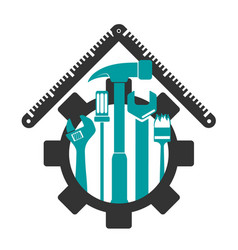 symbol for repair with tool vector image