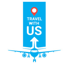 travel with us template agency poster vector image