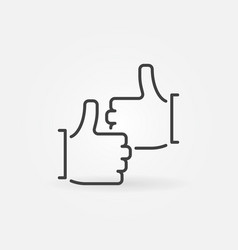 Two thumb up outline concept icon vector