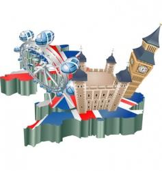 United kingdom tourism vector