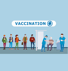 vaccination people for immunity health doctor and vector image
