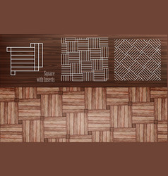 Vnn laminate square with inserts vector
