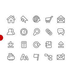 website icons red point series vector image