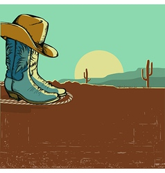 Western image with desert landscape vector
