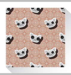 Animal seamless pattern collection with piggy 8 vector image